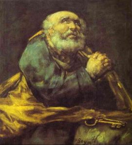 art 02 Goya, St. Peter Repentant, 1823-25