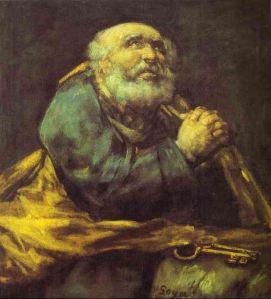 art 02 Goya, St. Peter Repentant, 1823-25